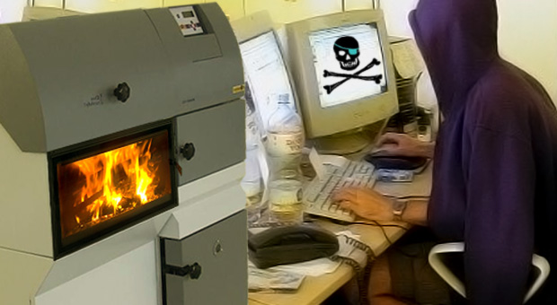 Kremační pirát spaluje v domácí peci svoji babičku. Ilustrační foto.